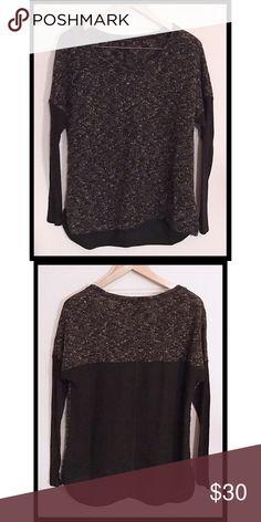 1622f52e Sanctuary Knit Sweater w/ Solid Back Sanctuary Pullover Sweater, size  small, beautiful black