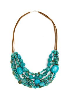 SOUTH SUN  Mixed Bib Necklace  $39.99
