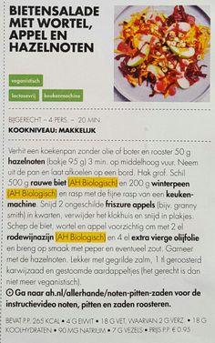 Bietensalade met wortel, appel en hazelnoten