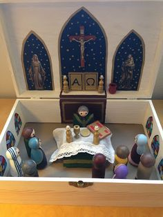 Look to Him and be Radiant: A Kids-Can-Make Peg Doll Nativity