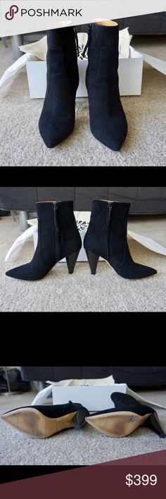 """Lowest Price! Isabel Marant Suede Ankle Boots Gently used. This item has scuff on soles. Comes with original box and retail tag.  Pointed toe. Zipper closure at inner side. Leather sole in tan.  Approx. 3.5"""" heel. 100% Goat suede leather. Made in Italy. Isabel Marant Shoes Ankle Boots & Booties"""