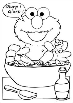 Sesame Street Coloring Pages 49