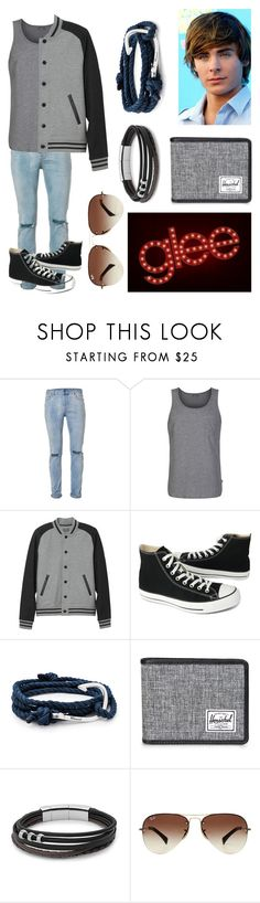 """""""Jackson Roberts 2"""" by ebishop0215 ❤ liked on Polyvore featuring Topman, Bench, L.L.Bean, Converse, MIANSAI, Herschel Supply Co., FOSSIL, Ray-Ban, men's fashion and menswear"""