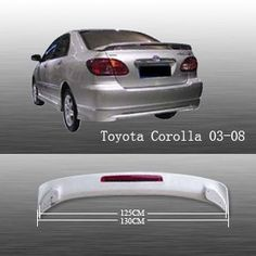Spoiler Wing OE Style W/ LED for Toyota Corolla 03-08