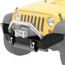 Bestop HighRock Front Bumper with D-Ring Mounts - Matte Black Jeep Wrangler Bumpers, Jeep Bumpers, Matte Black, 4x4, Trucks, Ring, Rings, Truck, Jewelry Rings