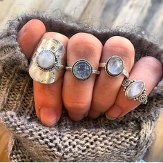 Moonstone Rings All available at www.indieandharper.com