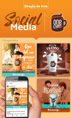 Direção de Arte// Social Media - OneCoffee on Behance