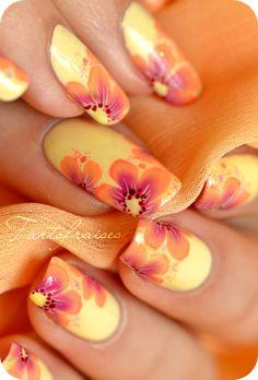 nail art one stroke fluo