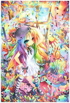 Bird of Paradise – Les peintures manga psychédéliques d'Emperpep | Ufunk.net