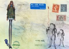 mail art from someone to someone else - in neither case was the someone me