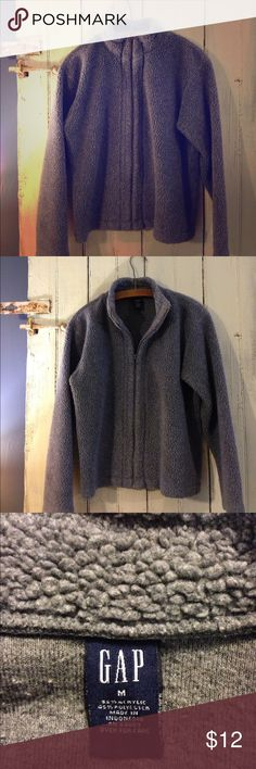 """Gap jacket Grey """"wooly"""" like jacket from the Gap. Perfect for cool fall days. GAP Jackets & Coats"""