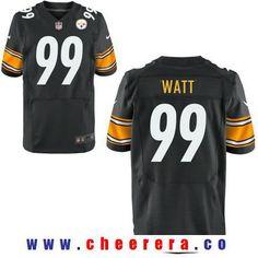 Men's 2017 NFL Draft Pittsburgh Steelers #99 T. J. Watt Black Team Color Stitched NFL Nike Elite Jersey