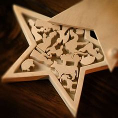 A laser cut wood nativity set in its own star shaped box from the United States. - photo by Bob Self / The Times-Union, Jacksonville, Florida (#4 of 5)