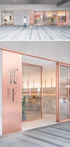 """OFFICE COASTLINE have recently completed a new modern tea house in the city of Shanghai, China, for the life-style brand """"Genshang"""". Cafe Interior Design, Boutique Interior, Cafe Design, Store Design, Interior Shop, Design Shop, Design Design, Architecture Restaurant, Modern Restaurant"""