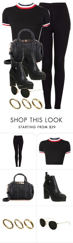 """""""Style #11232"""" by vany-alvarado ❤ liked on Polyvore featuring Topshop, UNIF, Alexander Wang, Office, Made and Ray-Ban"""