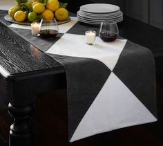 Ken Fulk Painted Canvas Table Runner | Pottery Barn