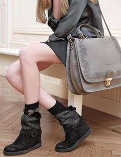 Black Twin Set Boots