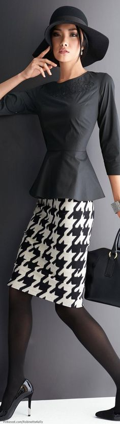 Something great about the oversize houndstooth check! Madeleine