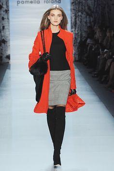 Pamella Roland Fall 2012 RTW #NYFW  Think I need a red coat!