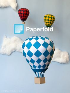 Paperfold App Splash Screen - Paper hot air balloons by utensils0