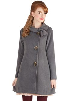 Perpetual Charm Coat in Charcoal, Winter 2014