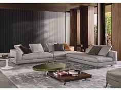 New sofa by Minotti now in store at Van der Donk interieur. More info… Sofa Set Designs, Sofa Design, Flur Design, Hall Design, Deco Design, Luxury Homes Interior, Interior Architecture, Interior Design, Living Room Sofa