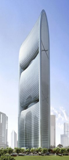 Pearl River Tower design Exterior 2