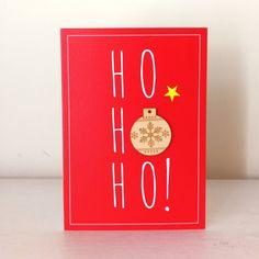 Wooden Bauble - Ho Ho Ho - Alljoy