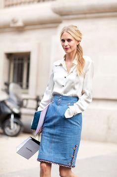 Poppy Delevingne. #coutureweek #streetstyle