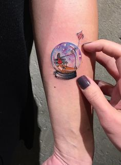 Pretty Snowglobe Tattoo