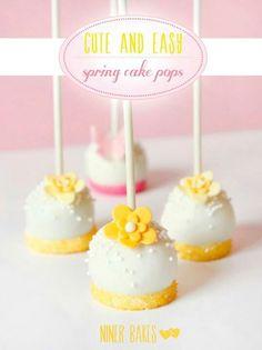 Yellow flower cake pops | Cake Pops ... | Pinterest
