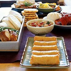 Store-Bought Appetizers for a Party -A Buy-and-Serve Appetizer Party  Combine ready-made ethnic foods for an easy and delicious menu.
