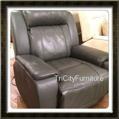 Such a great chair! Leather and so comfortable!