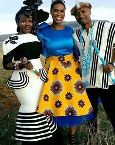 The Black and White! African Wedding Attire, African Attire, African Wear, African Women, African Traditional Wedding, African Traditional Dresses, Traditional Outfits, African Print Fashion, African Fashion Dresses