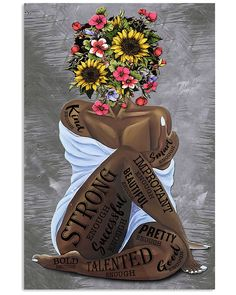 Black Art Painting, Black Artwork, Black Love Art, Black Girl Art, African American Art, African Art, Afro Girl, Black Girls With Tattoos, Pop Art