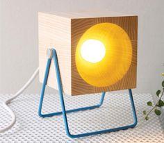 Luminária mesa toco