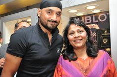 Harbhajan Singh with Mrs. Purnima Sheth,Sr. Director Sales, Rose at Rose - The Watch Bar