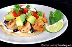 20 Family Dinners You Can Have on the Table in 30 Minutes or Less **Shrimp, Black Bean & Avacado Tostada**