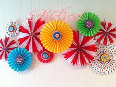 Carnival Baby Shower Pinwheel Wall Decor Photo Backdrop