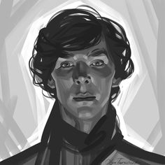 #sherlock #benedict cumberbatch #bbc #fanart #art #portrait #illustration