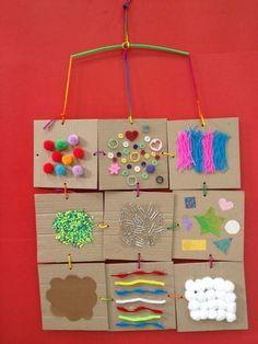 30 Sensory Activities - Preschool - Aluno On Diy Sensory Board, Sensory Wall, Sensory Book, Baby Sensory, Sensory Activities For Preschoolers, Senses Activities, Montessori Activities, Infant Activities, Decoration Creche