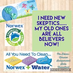 Norwex cleaning with just water www.piadixon.norwex.biz