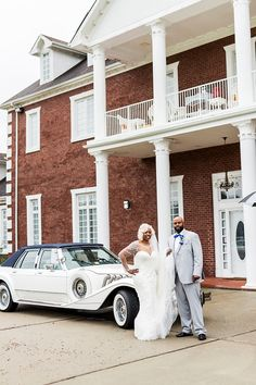 A glitz and glam Suffolk Virginia wedding at the Mansion at Double R Ranch photographed by Dragon Studio. Wedding Getaway Car, Wedding Car, Wedding Blog, Suffolk Virginia, Classic Weddings, Romantic Wedding Inspiration, 1920s Wedding, Glitz And Glam, Just Married
