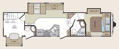 Keystone Cougar fifth wheel floorplan - 324RLB model