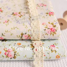 2014 Wholesale 100% cotton fabric 50x150cm * 2 pcs small floral cotton fabric poplin cotton patchwork floral fabric