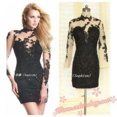 2014 celebrity black lace mini dress $139.99 each at Celebsbuy.net