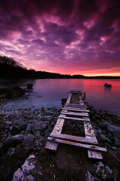 purple and red hues in the sky