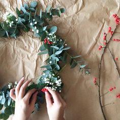 DIY : une couronne de Noël pas kitsch