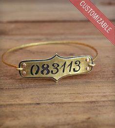 Customizable Save the Date Bracelet