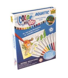 COLOR AND GO AQUATIC COLORING BOOK at theBIGzoo.com, an animal-themed store established in August 2000.